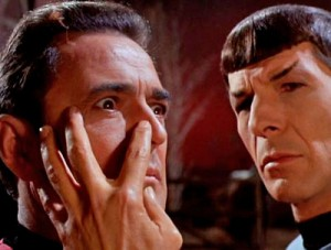 The Vulcan mind meld in action