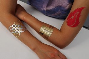 DuoSkin's metallic tattoos allow people to create three types of user interfaces on their skin